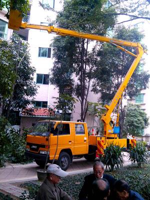 16米高空车修剪树枝