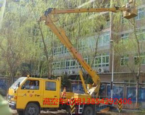 高空车蜜桃网在修剪树枝