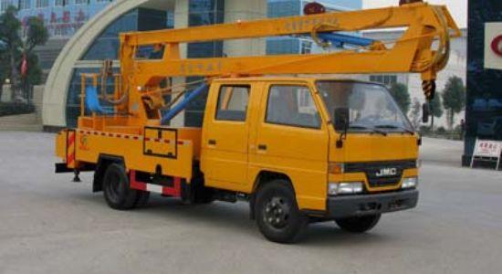 17米云梯车蜜桃网在南京检测作业