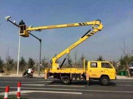 17米路灯车蜜桃网在昆山检测施工